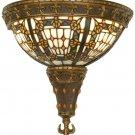 "50243 Meyda Tiffany Stained Art Glass 12""W Fleur-De-Lis Wall Sconce"