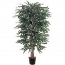 5018 Nearly Natural Artificial Potted 5' weeping Ficus Tree Silk Plant Floral Home Office Decor