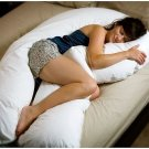 NEW! 20x130 White Over-sized -Total Body Pregnancy Pillow Full Support 400 TC