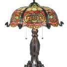 """Meyda Tiffany Stained Glass 25""""H Duffner & Kimberly Viking Table Lamp"""