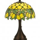 """Meyda Tiffany Stained Glass 17.5""""H Lemons Accent Table Lamp"""