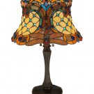 "Meyda Tiffany Stained Glass  22.5""H  Hanginghead Dragonfly Accent Table Desk Lamp"