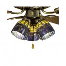 "Meyda Tiffany Stained Glass 4""W Candice Ceiling Fan Light Shade"
