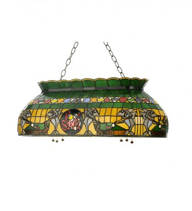 Meyda Tiffany Stained Glass Pool Shark Oblong Pendant Ceiling Light Fixture