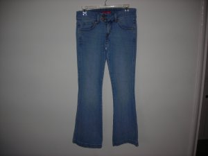 levis 524 too super low stretch womas jeans,size 3 medium,blue