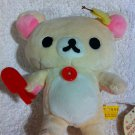 San-X Rilakkuma - Korilakkuma Holding Red Scoop Plush