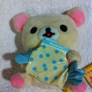 San-X Rilakkuma - Korilakkuma Holding Blue Polka Dot Candy Plush