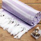 100% Cotton Hamam towel beach towel hammam peshtemal Turkish Towel SARAY Lilac