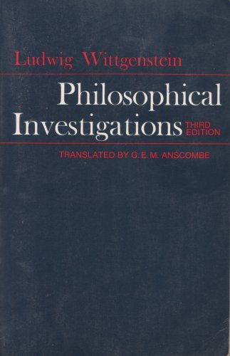 Philosophical Investigations by Wittgenstein
