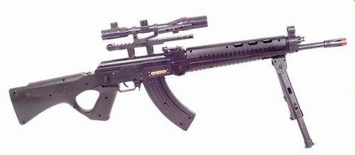 AK Assault, Spring Powered Airsoft Assault Rifle With LASER