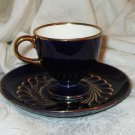 Afternoon Tea - Vintage German Cobalt Blue Demi Cup and Saucer