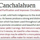 Canchalahuen Herbal Mixture