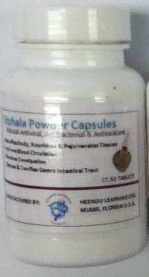 Triphala Powder Capsules 100ct