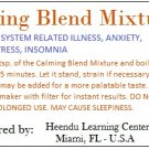 Calming Blend Mixture