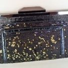 Rachel Roy BLACK/GOLD FRAME CLUTCH HANDBAG MSRP $69