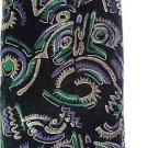 NEW Special Occasion Black - Multi Colored Non Stretch Velvet Fabric - 3yrds Lot