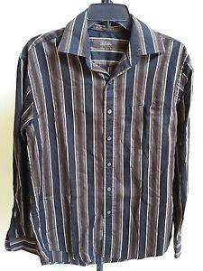 Tasso Elba Men�s Striped Button-Down Shirt Size S