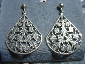 Sterling Filigree Earrings