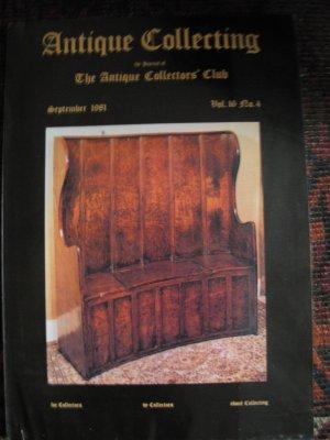 Antique Collecting Vol. 16, No. 4, September 1981