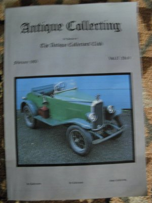 Antique Collecting Vol. 17, No. 9, February 1982