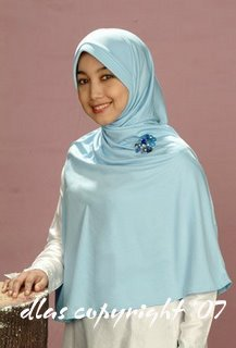 Tudung Permata - Type 6(b) Light Blue