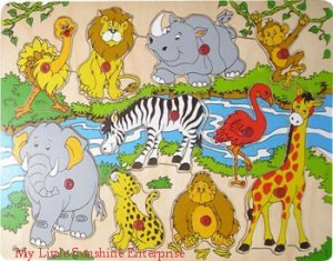 Wooden Puzzle : Animal Kingdom