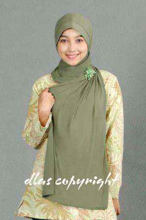 Tudung Permata Type 15(b) Dark Green