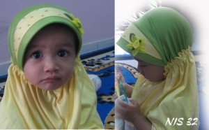 Tudung Kanak-Kanak : Hijau Kuning