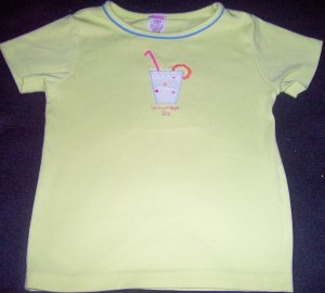 Girls 5 GYMBOREE Rainbow Sherbert Green Top Shirt