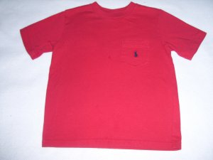 Boys 6 RALPH LAUREN POLO Red Pocket T-Shirt Pony Logo