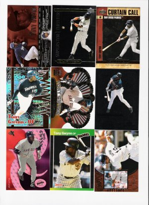 Fantastic collection of Tony Gwynn Baseball Cards