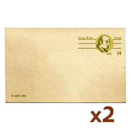 USPS George Wythe Patriot 14-cent postcard (2-pack)