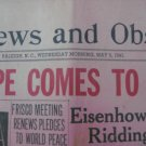 1945 The News & Observer Newspaper, Raleigh, NC WWII WAR ENDS MAY 9 1945