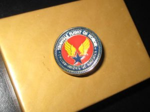 Vintage triangle flight of honor pin
