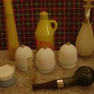 Vintage Collectible Lot of 9 Avon Bottles, Jars, & Decanters
