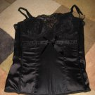 Rampage Black Satin & Lace Bustier small