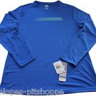 NEW Womens Adidas LS Sprinter Climalite BLue Top Shirt Sz XL
