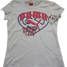 "NEW Puma Girls ""Original Sport 1948"" Heart T-Shirt Top size Medium 8/10"
