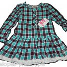 NEW Roxy Teenie Wahine Sharing is Caring Plaid Dress Size Small 4