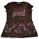 "SELF ESTEEM GIRLS  ""GIRLS ROCK"" SHORT SLEEVE TOP SIZE X-LARGE 14/16"