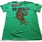 NEW Ed Hardy Boy's Fighting Tiger Green T-Shirt Top Size XL 14-16