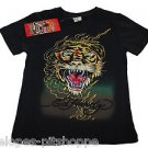 NEW Ed Hardy Kids Boy's Tiger Black T-Shirt Top Size 3/4