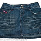 GAP KIDS DENIM GIRLS 5 POCKET STONE WASH HEART JEAN  SKIRT  SIZE 12 REGULAR