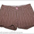 SO GIRLS WEAR IT DECLARE IT MULTI  STRIPE BROWN PINK  4 POCKET SHORTS SIZE 7