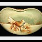 VINTAGE MCCOY POTTERY BIRD BATH DECORATIVE BOWL PLANTER 1950