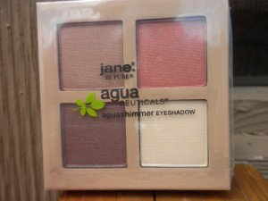 JANE AGUA CEUTICALS 4 SHIMMERING EYESHADOW COMPACT IN SANDSTORM NETURAL COLORS