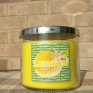 BATH & BODY WORKS LARGE 3-WICK CANDLE JAR IN LEMON MINT LEAF! FREE SHIPPING