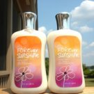 BATH & BODY WORKS SIGNATURE COLLECTION BODY LOTION IN  FOREVER SUNSHINE X 2