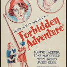 FORBIDDEN ADVENTURE 1931 Mitzi Greene