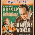 JOHN MEADE'S WOMAN 1937 Edward Arnold